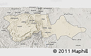 Shaded Relief 3D Map of North Wello, semi-desaturated