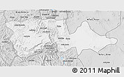 Silver Style 3D Map of North Wello