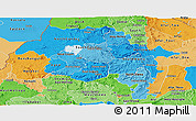 Political Shades Panoramic Map of Amhara