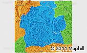 Political 3D Map of Wag Hemra