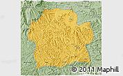 Savanna Style 3D Map of Wag Hemra