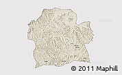 Shaded Relief 3D Map of Wag Hemra, cropped outside