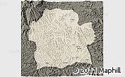 Shaded Relief 3D Map of Wag Hemra, darken