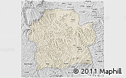 Shaded Relief 3D Map of Wag Hemra, desaturated