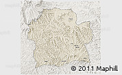 Shaded Relief 3D Map of Wag Hemra, lighten