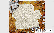 Shaded Relief 3D Map of Wag Hemra, physical outside