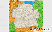 Shaded Relief 3D Map of Wag Hemra, political outside