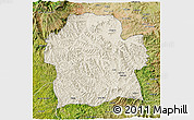 Shaded Relief 3D Map of Wag Hemra, satellite outside