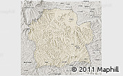 Shaded Relief 3D Map of Wag Hemra, semi-desaturated