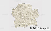 Shaded Relief 3D Map of Wag Hemra, single color outside