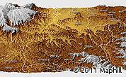 Physical Panoramic Map of Wag Hemra