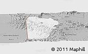 Gray Panoramic Map of Bebieg
