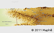 Physical Panoramic Map of Bebieg