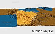 Political Panoramic Map of Bebieg, darken