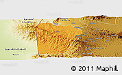 Political Panoramic Map of Bebieg, physical outside