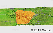 Political Panoramic Map of Bebieg, satellite outside
