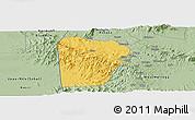 Savanna Style Panoramic Map of Bebieg