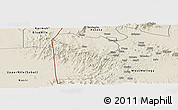 Shaded Relief Panoramic Map of Bebieg