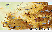 Physical Panoramic Map of Benshangul