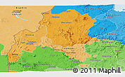 Political Shades Panoramic Map of Benshangul