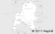 Silver Style Simple Map of Benshangul