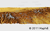 Physical Panoramic Map of Dire Dawa