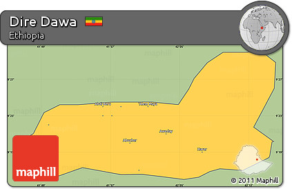 Free Savanna Style Simple Map of Dire Dawa cropped outside