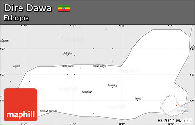 Free Silver Style Simple Map of Dire Dawa