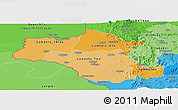 Political Shades Panoramic Map of Gambela