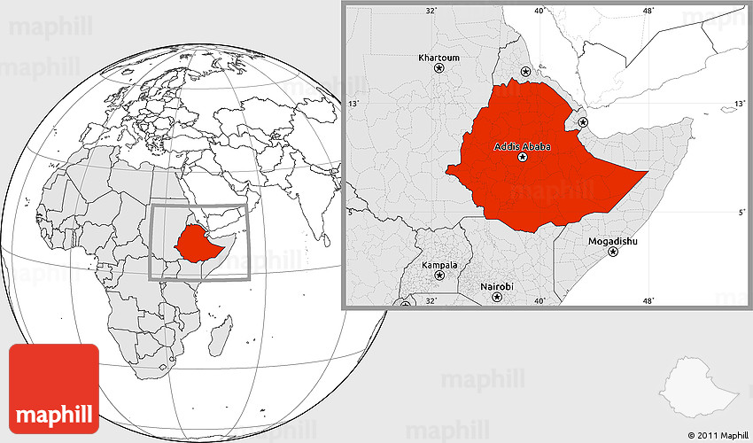 Blank location map of ethiopia highlighted continent 2d gumiabroncs Choice Image