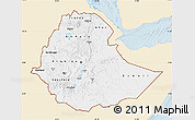 Classic Style Map of Ethiopia, single color outside
