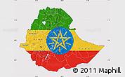 Flag Map of Ethiopia, flag centered
