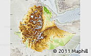 Physical Map of Ethiopia, lighten, semi-desaturated