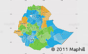 Political Map of Ethiopia, cropped outside