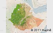 Satellite Map of Ethiopia, lighten