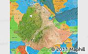 Satellite Map of Ethiopia, political outside, satellite sea