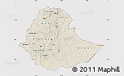 Shaded Relief Map of Ethiopia, cropped outside