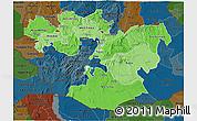 Political Shades 3D Map of Oromiya, darken