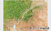 Satellite 3D Map of Oromiya
