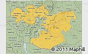 Savanna Style 3D Map of Oromiya