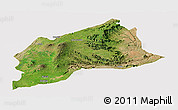 Satellite Panoramic Map of Arsi, cropped outside