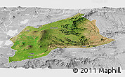 Satellite Panoramic Map of Arsi, lighten, desaturated