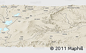 Shaded Relief Panoramic Map of Arsi