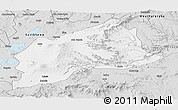 Silver Style Panoramic Map of Arsi