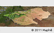 Satellite Panoramic Map of Bale, darken