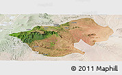 Satellite Panoramic Map of Bale, lighten