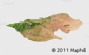 Satellite Panoramic Map of Bale, single color outside