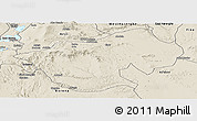Shaded Relief Panoramic Map of Bale