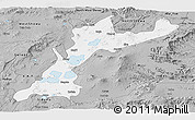 Gray Panoramic Map of East Shewa