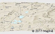 Shaded Relief Panoramic Map of East Shewa